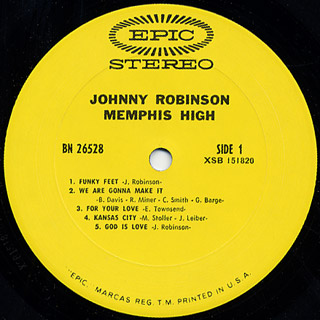 Johnny Robinson / Memphis High label