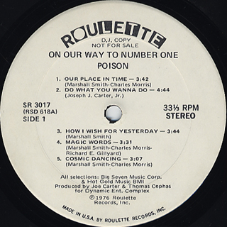 Poison / On Our Way To Number I label