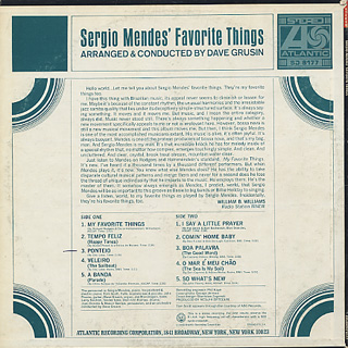 Sergio Mendes / Sergio Mendes's Favorite Things back