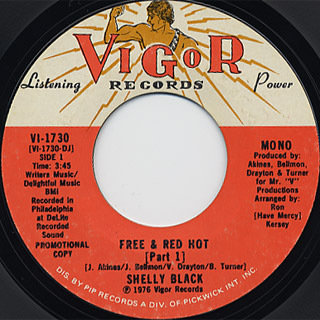 Shelly Black / Free & Red Hot back
