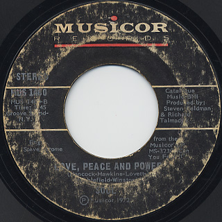 Soul / Can You Feel It c/w Love, Peace and Power back
