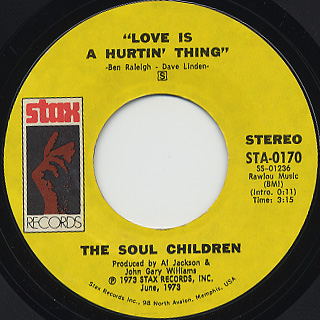 Soul Children / Love Is A Hurtin' Thing c/w Poem On The School House Door