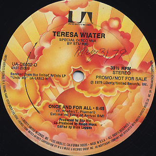 Teresa Wiater / Once And For All back