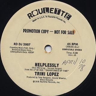 Trini Lopez / Helplessly c/w Trini's Medley