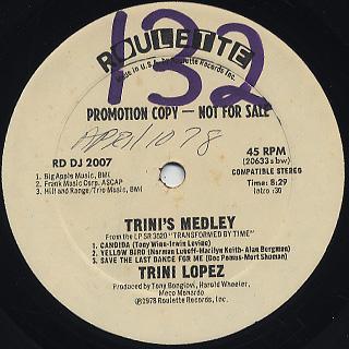 Trini Lopez / Helplessly c/w Trini's Medley back