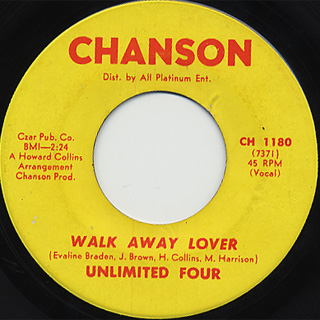 Unlimited Four / Slow Down c/w Walk Away Lover back