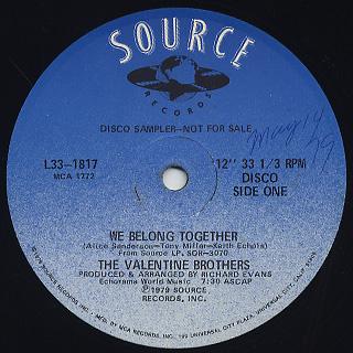 Valentine Brothers / We Belong Together