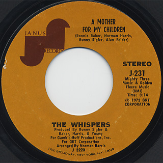 Whispers / A Mother For My Children c/w What More Can A Girl Ask For! back