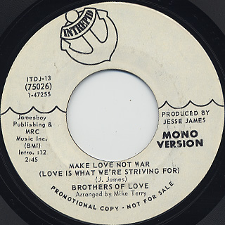 Brothers Of Love / Make Love Not War (Love Is What We're Striving For)