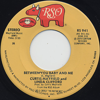 Curtis Mayfield / You're So Good To Me back