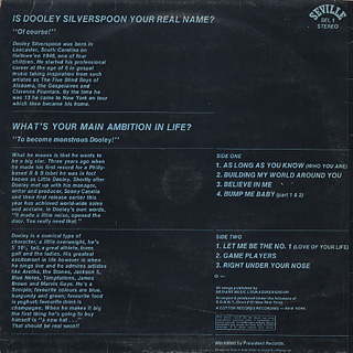 Dooley Silverspoon / Under The Influence Of S.O.N.N.Y. back