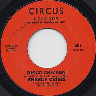 Energy Crisis / Disco Chicken c/w Tough Times Blues