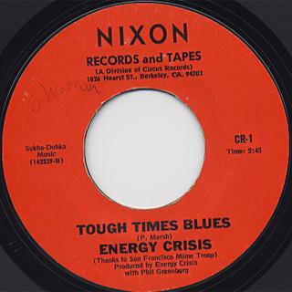 Energy Crisis / Disco Chicken c/w Tough Times Blues back