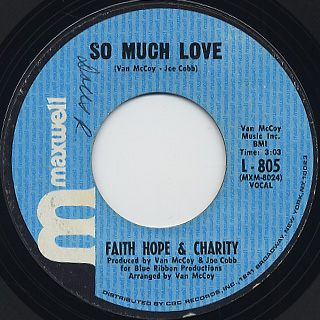 Faith Hope & Charity / So Much Love front