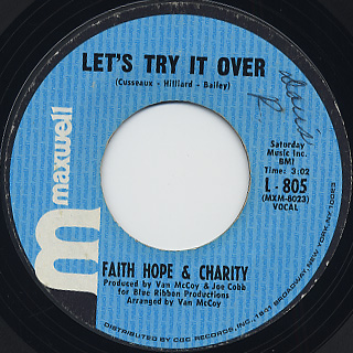 Faith Hope & Charity / So Much Love back