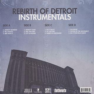 J Dilla / Rebirth Of Detroit Instrumentals back