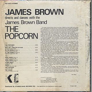 James Brown / James Brown Plays & Directs The Popcorn back