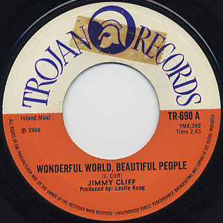 Jimmy Cliff / Wondeful World, Beautiful People back