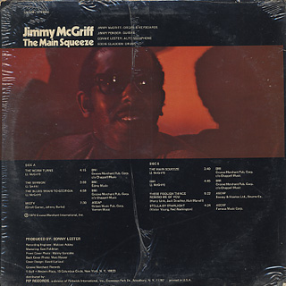 Jimmy McGriff / The Main Squeeze back