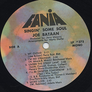 Joe Bataan / Singin' Some Soul label