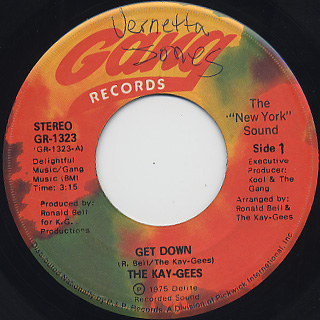 Kay-Gees / Get Down front