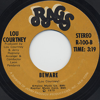 Lou Courtney / What Do You Want Me To Do back