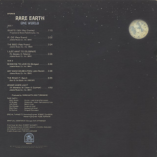 Rare Earth / One World back