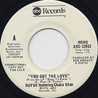Rufus Featuring Chaka Khan / You Got The Love