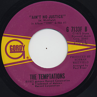 Temptations / Let Your Hair Down back