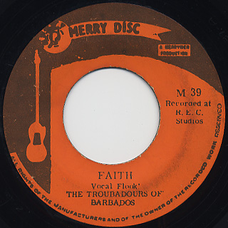 Troubadours Of Barbados / Woman In Jail c/w Faith back