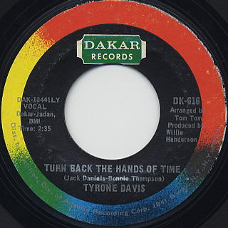 Tyrone Davis / Turn Back The Hands Of Time c/w I Keep Coming Back