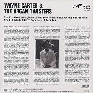 Wayne Carter & Organ Twisters / S.T back