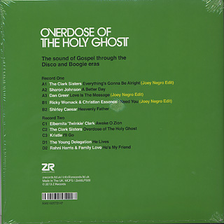 V.A. / Overdose Of The Holy Ghost (Compiled By David Hill) back