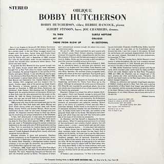 Bobby Hutcherson / Oblique back