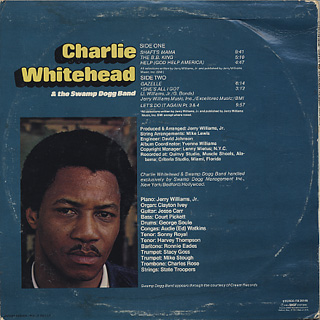 Charlie Whitehead & The Swamp Dogg Band / S.T. back