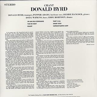 Donald Byrd / Chant back