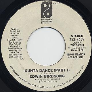Edwin Birdsong / Kunta Dance back