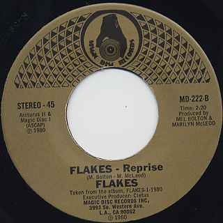 Flakes / Hey There Lonely Girl c/w Flakes - Reprise back