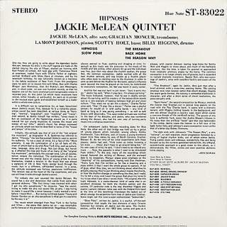 Jackie McLean Quintet / Hipnosis back