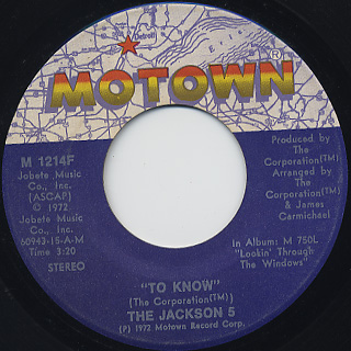 Jackson 5 / Corner Of The Sky back