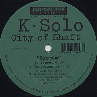 K-Solo / City Of Shaft back