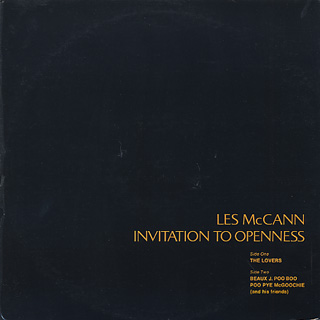Les McCann / Invitation To Openness back