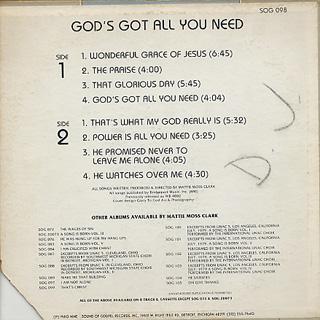 Mattie Moss Clark / God's Got All You Need back