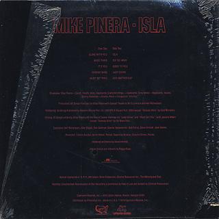 Mike Pinera / Isla back