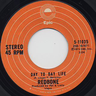 Redbone Come And Get Your Love 7inch Epic 中古レコード通販