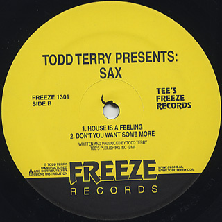 Todd Terry / Todd Terry Presents Sax back