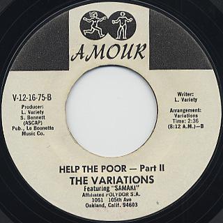 Variations / Help The Poor back