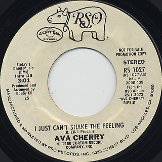 Ava Cherry / I Just Can't Shake The Feeling