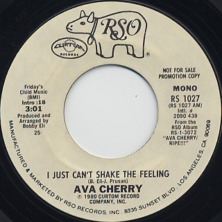 Ava Cherry / I Just Can't Shake The Feeling back