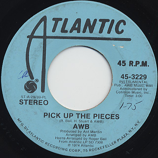 Average White Band / Pick Up The Pieces